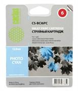 Струйный картридж Cactus CS-BCI6PC (BCI-6PC) светло голубой для Canon S800, S820, S900, S9000, i550, i560, i860, i865, i905d, i950s, i960x, i965, i990, i9100, i9950, JX500, MP750, MP760, iP600d, iP3000, iP600d, iP8500, BJC8200 (12 мл)