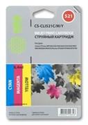 Струйный картридж Cactus CS-CLI521C/M/Y (2934B007AA) цветной для Canon Pixma iP3600, iP4600, iP4600x, iP4700, MP540, MP540x, MP550, MP560, MP620, MP620B, MP630, MP640, MP660, MP980, MP990, MX860, MX870 (320 стр.)
