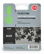 Струйный картридж Cactus CS-BCI15BK (8190A002) черный для Canon i 70, 80; Canon Pixma iP90, iP90v; Canon Pixus 50, 50i, 80, 80i (185 стр.)