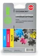 Струйный картридж Cactus CS-CLI426C/M/Y (4557B006) цветной для Canon Pixma iP4840, iP4940, iX6540, MG5140, MG5240, MG5340, MG6140, MG6240, MG8140, MG8240, MX714, MX884, MX894 (450 стр.)