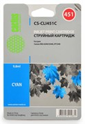 Струйный картридж Cactus CS-CLI451C (CLI-451C) голубой для Canon Pixma iP6840, iP7240, iP8740, iX6840, MG5440, MG5540, MG5640, MG6340, MG6440, MG6640, MG7140, MG7540, MX724, MX924 (10,2 мл)