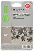 Струйный картридж Cactus CS-CLI451GY (CLI-451GY) серый для принтеров Canon Pixma MG6340, MG7540 (130 стр.)