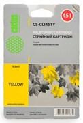 Струйный картридж Cactus CS-CLI451Y (CLI-451Y) желтый для принтеров Canon Pixma iP7240, MG5440, MG6340, MG7540 (130 стр.)