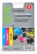 Струйный картридж Cactus CS-CLI8C/M/Y (0621B029AA) цветной для Canon Pixma iP3300, iP3500, iP4200, iP4200x, iP4300, iP4500, iP4500x, iP5200, iP5200r, iP5300, iP6600, iP6600d, iP6700, iP6700d, iX4000, iX5000, MP500, MP510 (1'470 стр.)