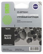 Струйный картридж Cactus CS-EPT0541 (C13T05414010) черный глянцевый для принтеров Epson Stylus Photo R800, R1800 (16.5 мл)