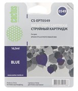 Струйный картридж Cactus CS-EPT0549 (C13T05494010) синий для принтеров Epson Stylus Photo R800, R1800 (16.5 мл)