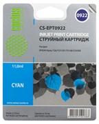 Струйный картридж Cactus CS-EPT0922 (T0922) голубой для принтеров Epson Stylus C91, C240, CX4300, T26, T27, TX106, TX109, TX117, TX119 (6,6 мл.)