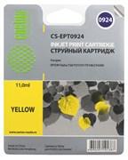 Струйный картридж Cactus CS-EPT0924 (T0924) желтый для принтеров Epson Stylus C91, C240, CX4300, T26, T27, TX106, TX109, TX117, TX119 (6,6 мл.)