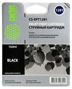 Струйный картридж Cactus CS-EPT1281 (T1281) черный для принтеров Epson Stylus S22, S125, SX130, SX230, SX235w, SX420W, SX425w, SX430w, SX435w, SX440w, SX445w, Office BX305f (10 мл.)