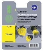 Струйный картридж Cactus CS-EPT0484 (T0484) желтый для принтеров Epson Stylus Photo R200, R220, R300, R340, RX500, RX600, RX620, RX640 (14,4 мл.)
