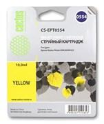 Струйный картридж Cactus CS-EPT0554 (T0554) желтый для принтеров Epson Stylus Photo R240, R245, RX420, RX425, RX520 (10 мл.)