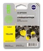 Струйный картридж Cactus CS-EPT0594 (T0594) желтый для принтеров Epson Stylus Photo R2400 (14,8 мл.)