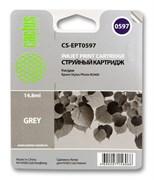Струйный картридж Cactus CS-EPT0597 (T0597) серый для принтеров Epson Stylus Photo R2400 (14,8 мл.)