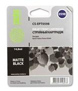 Струйный картридж Cactus CS-EPT0598 (T0598) черный матовый для принтеров Epson Stylus Photo R2400 (14,8 мл.)
