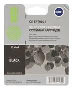 Струйный картридж Cactus CS-EPT0801 (T0801) черный для принтеров Epson Stylus Photo P50, PX650, PX660, PX700, PX700w, PX710, PX720, PX800, PX800fw, PX810, PX820, R265, R285, R360, RX560, RX585, RX685 (11,4 мл.)