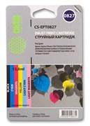 Струйный картридж Cactus CS-EPT0827 (T0817) набор для принтеров Epson Stylus Photo 1410, R270, R290, R295, R390, RX590, RX610, RX690, T50, T59, TX659, TX800fw (82,8 мл.)