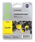 Струйный картридж Cactus CS-EPT0874 (C13T08744010) желтый для принтеров Epson Stylus Photo R1900 (13,8 мл.)