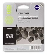 Струйный картридж Cactus CS-EPT0878 (C13T08784010) черный матовый для принтеров Epson Stylus Photo R1900 (13,8 мл.)