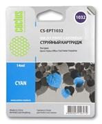 Струйный картридж Cactus CS-EPT1032 (C13T10324A10) голубой для принтеров Epson Stylus TX550, Stylus Office T30, T40, T1100, TX510, TX600 (14 мл.)