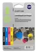 Струйный картридж Cactus CS-EPT1285 (C13T12854010) набор для принтеров Epson Stylus S22, S125, SX130, SX230, SX235W, SX420W, SX425W, SX430W, SX435W, SX440W, SX445W, Office BX305F (31 мл.)