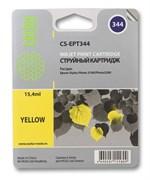 Струйный картридж Cactus CS-EPT344 (T0344) желтый для принтеров Epson Stylus Photo 2100, 2200 (15.4 мл)