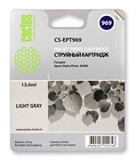 Струйный картридж Cactus CS-EPT969 (T0969) светло-серый для принтеров Epson Stylus Photo R2880 (13 мл.)