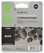 Струйный картридж Cactus CS-EPT1711 (C13T17114A10) черный для принтеров Epson Expression Home XP-33, XP-103, XP-203, XP-207, XP-303, XP-306, XP-313, XP-323, XP-403, XP-406, XP-413, XP-423 (14,6 мл.)