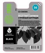 Струйный картридж Cactus CS-C6656A (HP 56) черный для HP DeskJet 450, 5150, 5650, 5850, 9680; OfficeJet 4110, 4215, 5510, 5610, 6110; PhotoSmart 7260, 7350, 7450, 7660, 7760, 7960; PSC 1110, 1210, 1315, 2110, 2210, 2410, 2510 (21 мл.)