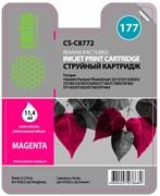 Струйный картридж Cactus CS-C8772 (HP 177) пурпурный для HP PhotoSmart 3100, 3210, 3213, 3310, 3313, C5183, C6100, C6183, C6200, C6283, C7183, C7200, C7280, C7283, C8183, D7100, D7160, D7163, D7300, D7363, D7463 (11,4 мл.)