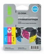 Струйный картридж Cactus CS-CH564 (HP 122XL) цветной увеличенной емкости для HP DeskJet 1000 J110, 1050 J410, 1051 J410, 1055 J410, 1510 All-in-One, 2000 J210, 2050 J510, 2054A J510, 3000 J310, 3050 J610, 3052A J611, 3054 J610 (18 мл.)