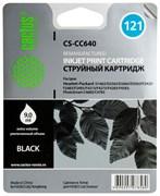 Струйный картридж Cactus CS-CC640 (121 Bk) черный для HP DeskJet D1663, D2500, D2563, D2663, D5563, F2423, F2483, F2493, F4213, F4275, F4280, F4283, F4583; ENVY 110; PhotoSmart C4683, C4783 (9 мл.)