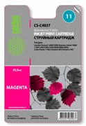 Струйный картридж Cactus CS-C4837 (HP 11) пурпурный для HP Business Inkjet 1000, 1100, 1200, 2200, 2250, 2800; Color Inkjet 1700, 2600, Color Printer 1700, 2600, DesignJet 10, 20, 50, 70, 100, 110, 120; OfficeJet 9110, 9120, 9130 (29 мл)