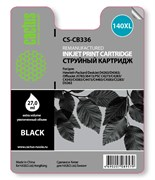 Струйный картридж Cactus CS-CB336 (HP 140XL) черный увеличенной емкости для HP DeskJet D4263, D4363; OfficeJet J5730, J5780, J5783, J5785, J5790, J6413, J6415, J6450; PhotoSmart C4200, C4225, C4240, C4250, C4270, C4280, C4343, C4380, C4383 (27 мл.)
