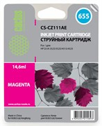 Струйный картридж Cactus CS-CZ111AE (HP 655) пурпурный для HP DeskJet Ink Advantage 3525, Ink Advantage 4615, Ink Advantage 4625, Ink Advantage 5520 series, Ink Advantage 5525, Ink Advantage 6525 (14,6 мл.)