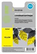Струйный картридж Cactus CS-CZ132 (HP 711XL) желтый увеличенной емкости для HP DesignJet T120, T520 A0, T520 A1 (26 мл.)