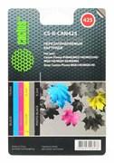 Комплект перезаправляемых картриджей Cactus CS-R-CAN425 голубой, пурпурный, желтый, черный (19.6мл) Canon PIXMA iP4840; MG5140, 5240 4 шт