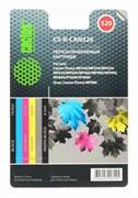 Перезаправляемый картридж Cactus CS-R-CAN520 голубой, пурпурный, желтый, черный Canon PIXMA MP540, MP550, MP620, MP630, MP640 (4*19,6ml)