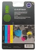 Комплект перезаправляемых картриджей Cactus CS-R-EPT0635 голубой, пурпурный, желтый, черный (13мл) Epson Stylus C67 Series, C87 Series, CX3700, CX4100