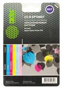 Комплект перезаправляемых картриджей Cactus CS-R-EPT0807 черный, голубой, пурпурный, желтый, светло-голубой, светло-пурпурный (14.4мл) Epson Stylus Photo P50