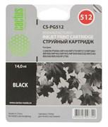 Струйный картридж Cactus CS-PG512 (2969B007) черный для Canon Pixma iP2700, iP2702, MP230, MP235, MP240, MP250, MP252, MP260, MP270, MP272, MP280, MP282, MP330, MP480, MP490, MP492, MP495, MP499, MX320, MX330, MX340, MX350, MX360, MX410, MX420 (400 стр.)