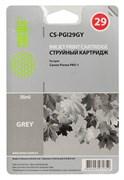 Струйный картридж Cactus CS-PGI29GY (4871B001) серый для Canon Pixma PRO-1 (745 стр.)
