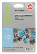 Струйный картридж Cactus CS-PGI29PC (4876B001) фото голубой для Canon Pixma PRO-1 (1'445 стр.)