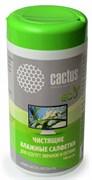 Салфетки Cactus CS-T1001E (ECO) для экранов и оптики туба 100шт влажных