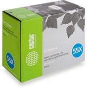 Лазерный картридж Cactus CS-CE255XS(HP 55X) черный увеличенной емкости для HP LaserJet M521 Pro 500 MFP, M521dn Pro MFP, M521dw Pro MFP, M525 , M525c MFP, M525f, P3010, P3015, P3015d, P3015dn, P3015n, P3015X (12'500 стр.)