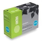 Лазерный картридж Cactus CS-Q7551XS(HP 51X) черный увеличенной емкости для HP LaserJet M3027 MFP, M3027x MFP, M3035 MFP, M3035x MFP, M3035xs MFP, P3005, P3005d, P3005dn, P3005dtn, P3005n, P3005X (13'000 стр.)