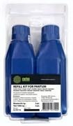 Тонер Cactus refill kit: 2 chips+2 bottles CS-PX110 черный флакон  для принтера PANTUM P1000, 1050, 2000, 2010
