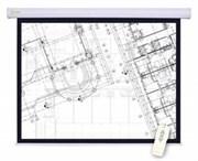 """Экран Cactus Motoscreen CS-PSM-180X180 100"""" 1:1 настенно-потолочный, моторизованный привод (180x180 см.)"""