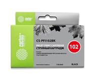 Струйный картридж Cactus CS-PFI102BK (0895B001) черный для Canon ImagePrograf iPF500, iPF510, iPF510 plus, iPF600, iPF605, iPF610, iPF650, iPF655, iPF700, iPF710, iPF720, iPF750, iPF755, iPF760, iPF760 MFP M40, iPF765, iPF765MFP, LP17, LP24 (130 мл.)